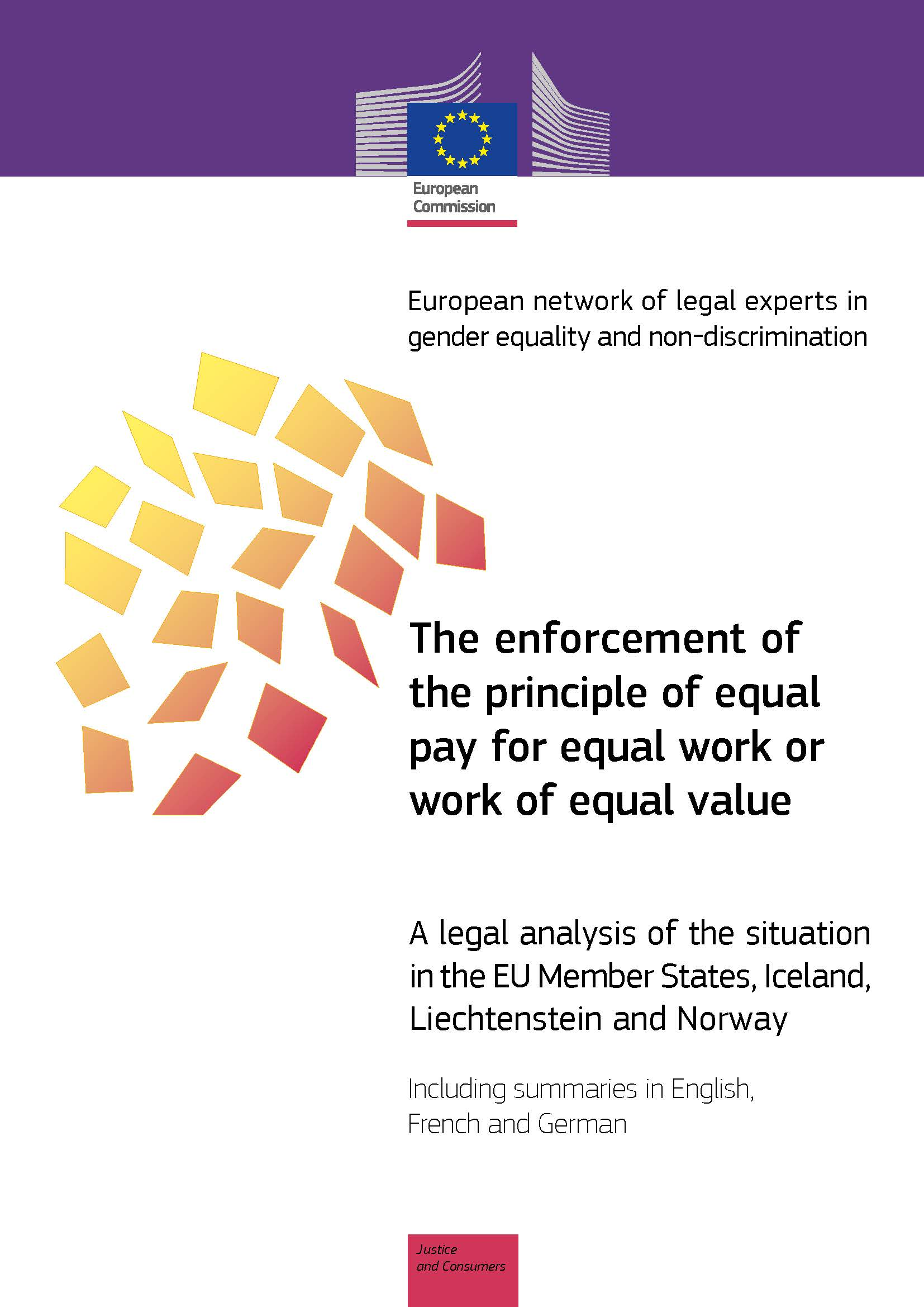 The enforcement of the principle of equal pay for equal work or work of equal value (PDF 840 kB)